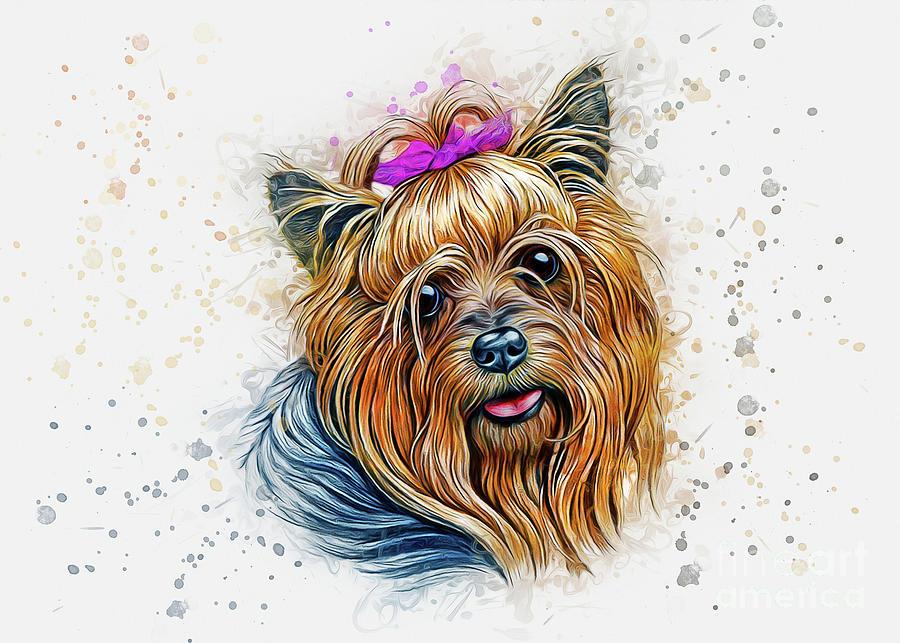 Yorkshire Terrier Art Digital Art