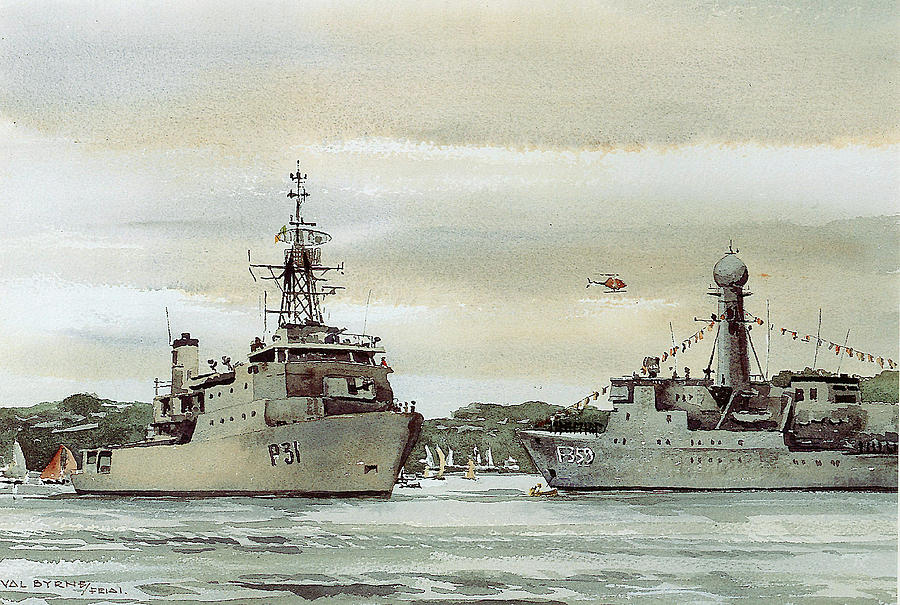 50th Anniverary. Naval Review, Cork. by Val Byrne