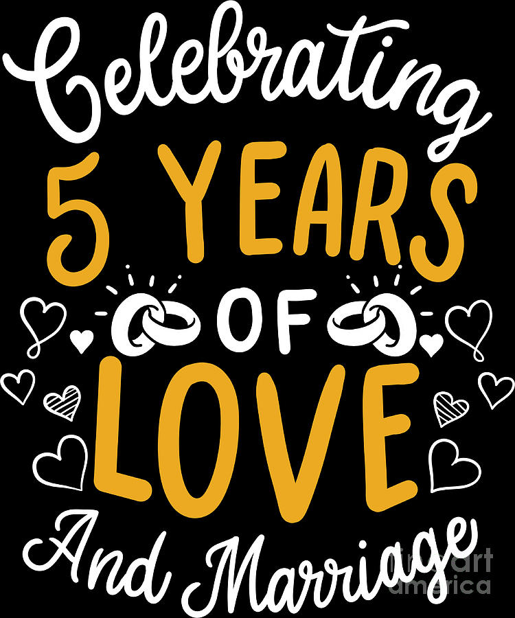 10th Wedding Anniversary 10 Years Of Love And Marriage by Haselshirt
