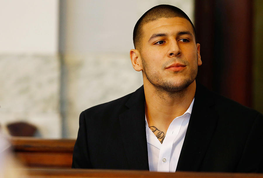 Aaron Hernandez Court Appearance Photograph by Jared Wickerham