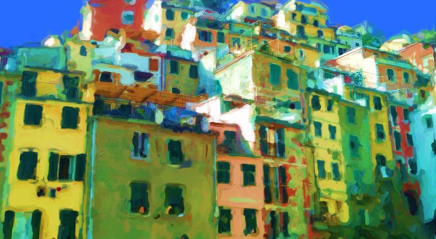 Cinque Terre Mixed Media - Cinque Terre by Asbjorn Lonvig