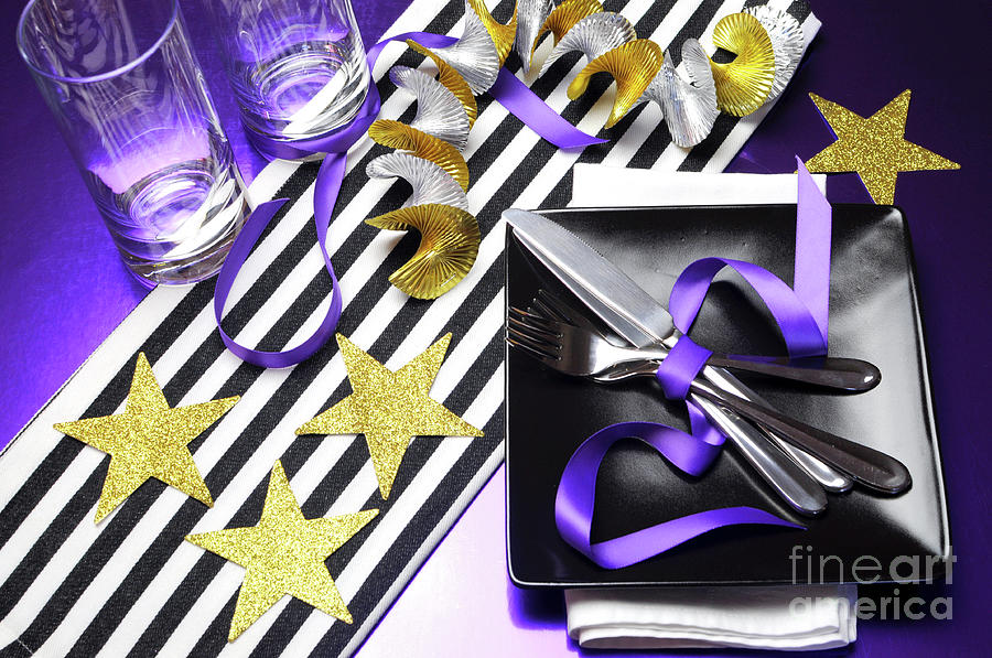 Nfl Photograph - Football Party Tables In Team Colors. by Milleflore Images