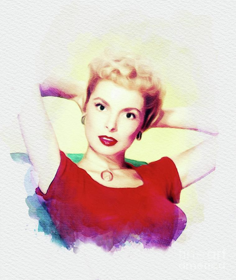 Janet Leigh, Movie Legend Painting