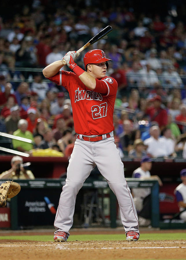 Mike Trout Photograph by Christian Petersen