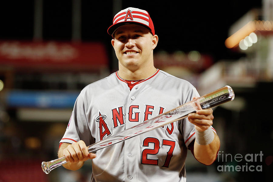 Mike Trout Photograph by Rob Carr