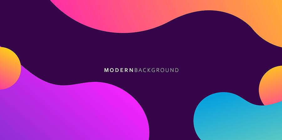Modern Liquid Gradient Colors Abstract Background. Abstract design template for brochures, flyers, magazine, business card, branding, banners, headers, book covers, notebooks background vector Drawing by Ajwad Creative