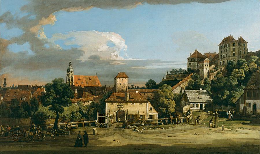 Pirna - The Obertor from the South by Bernardo Bellotto