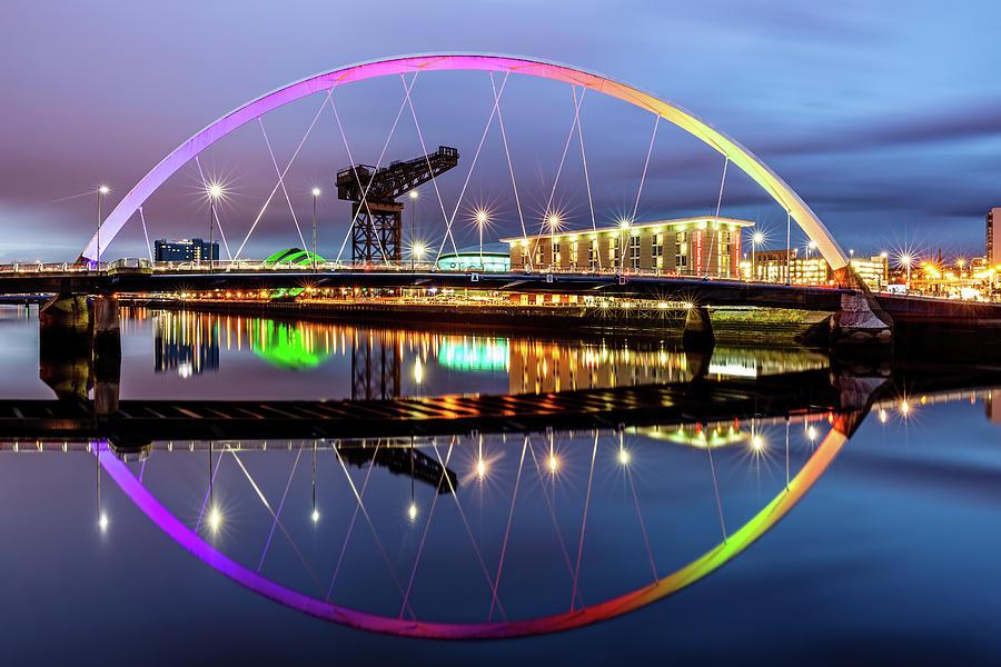 Clyde Arc Photograph - The Glasgow Clyde Arc Bridge by Grant Glendinning