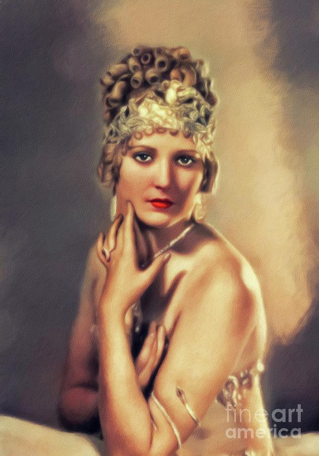 Thelma Todd, Vintage Actress Painting