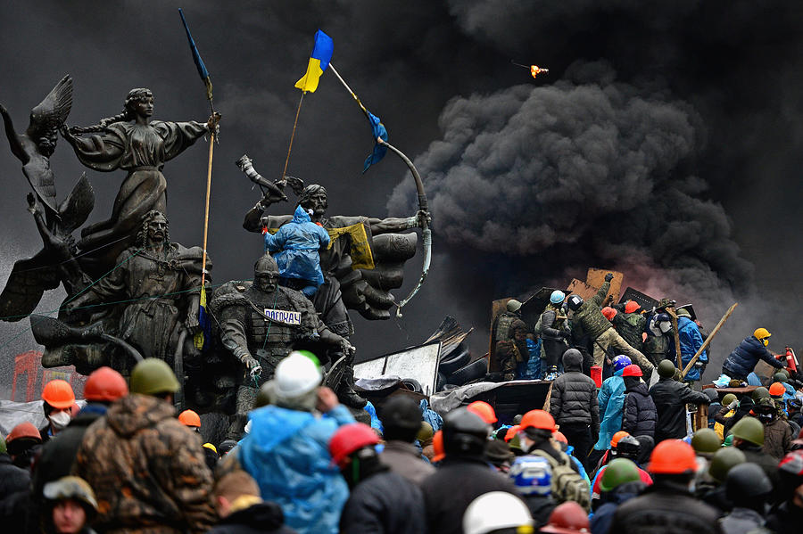 Violence Escalates As Kiev Protests Continue Photograph by Jeff J Mitchell