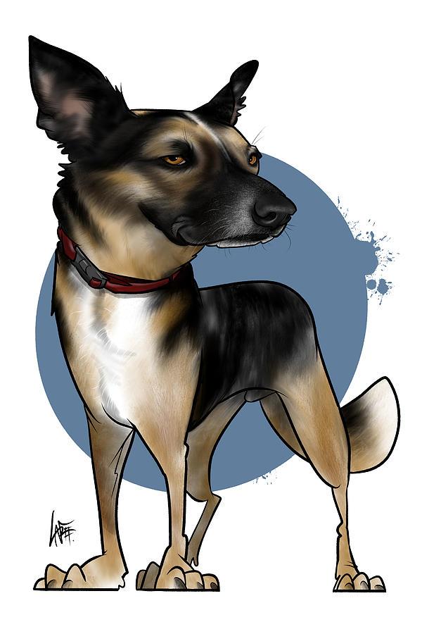 Plummer Drawing - 6011 Plummer by Canine Caricatures Custom Merchandise