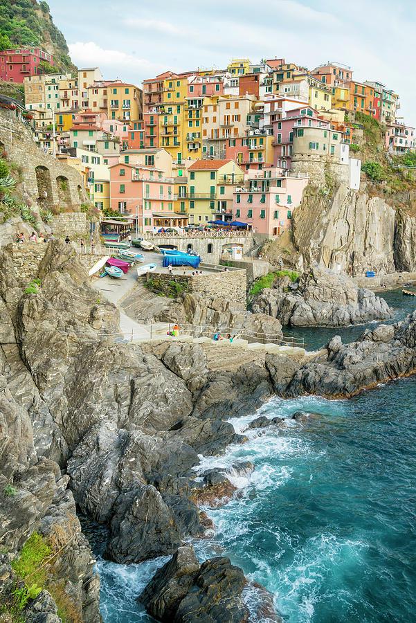 Manarola Village Part Of Cinque Terre In Italy Photograph By Halina Jasinska