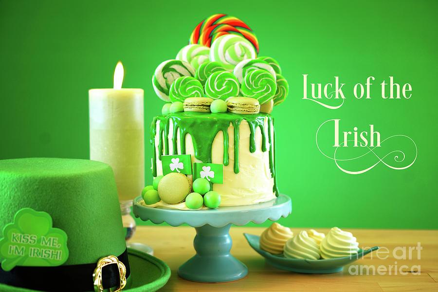 Admirable St Patricks Day Theme Lollipop Candy Land Drip Cake Photograph Funny Birthday Cards Online Necthendildamsfinfo