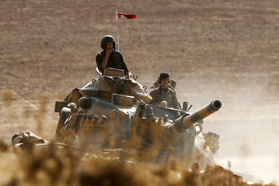 Syrian Kurds Battle IS To Retain Control Of Kobani Photograph by Gokhan Sahin