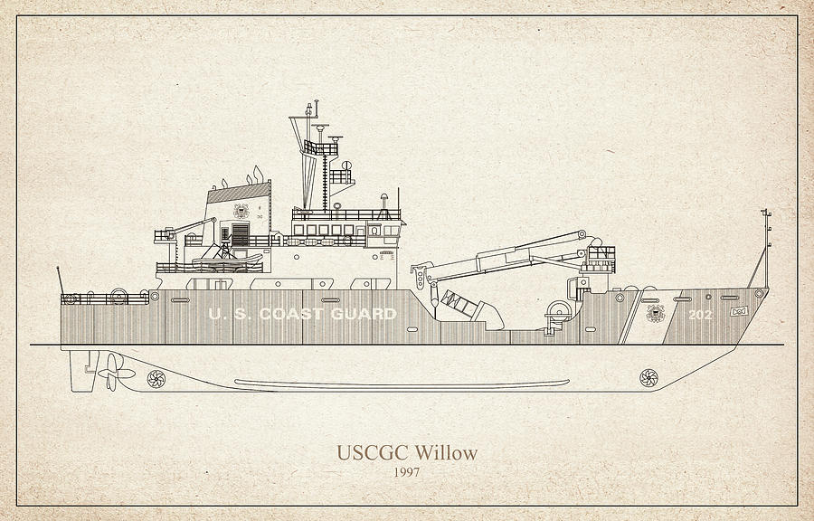 s03 - United States Coast Guard Cutter Willow wlb-202 by JESP Art and Decor