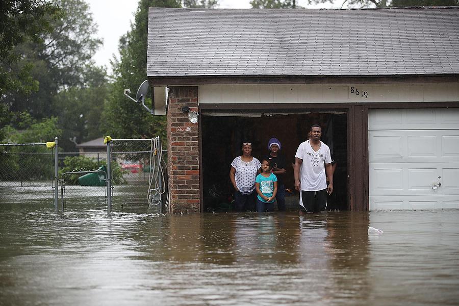 Epic Flooding Inundates Houston After Hurricane Harvey Photograph by Joe Raedle