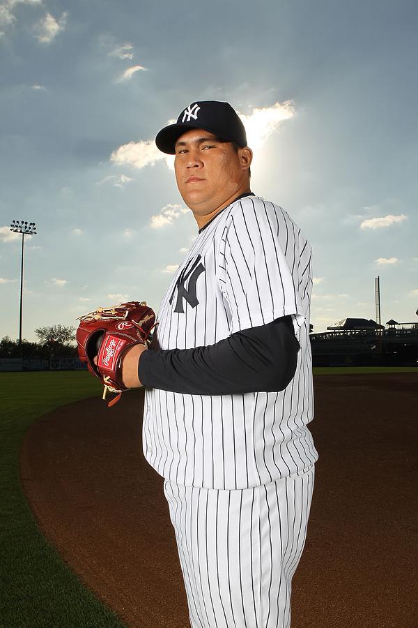 New York Yankees Photo Day Photograph by Nick Laham