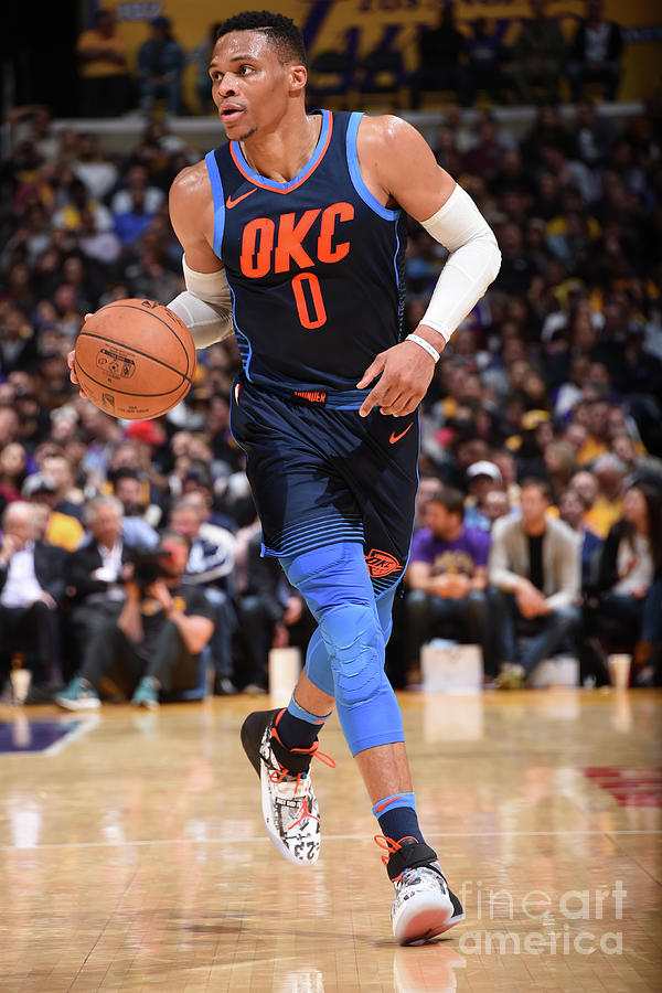 Russell Westbrook Photograph by Andrew D. Bernstein