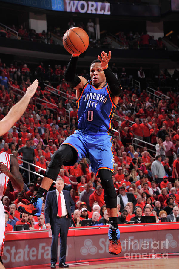 Russell Westbrook Photograph by Bill Baptist