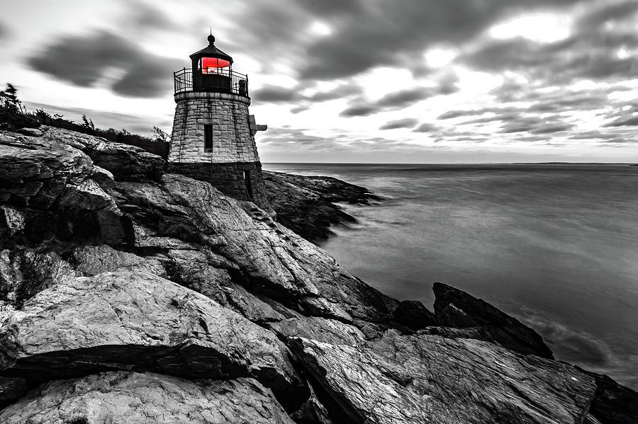 sunset in newport rhode island at castle hill lighthouse by ALEX GRICHENKO