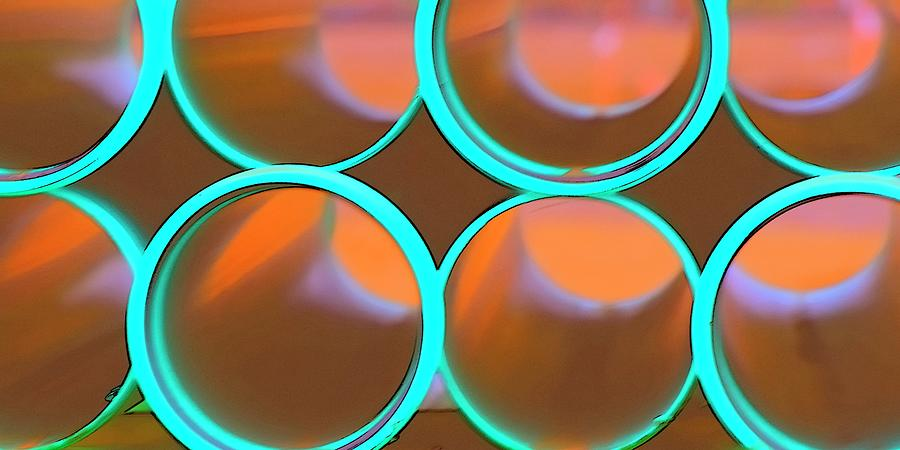 8 Turquoise Construction Pipes Photograph