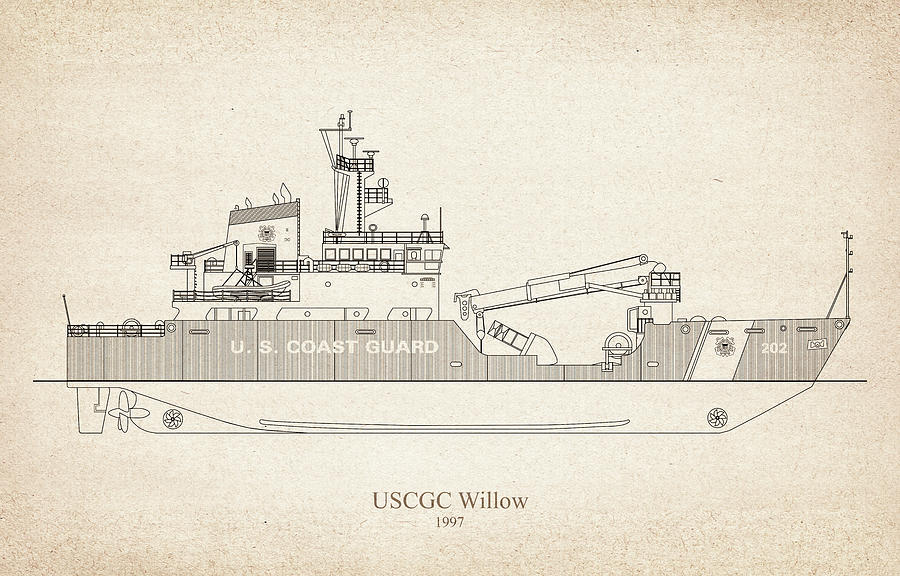 s02 - United States Coast Guard Cutter Willow wlb-202 by JESP Art and Decor