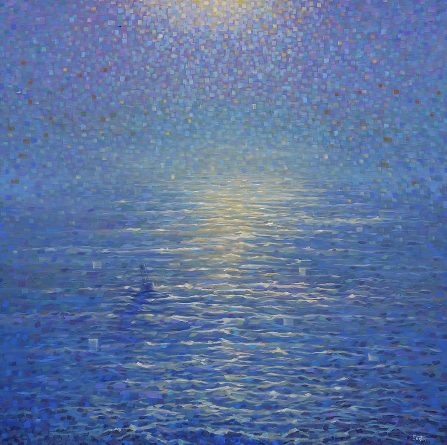 Seascape Painting - Buoy 835 by Rob Buntin