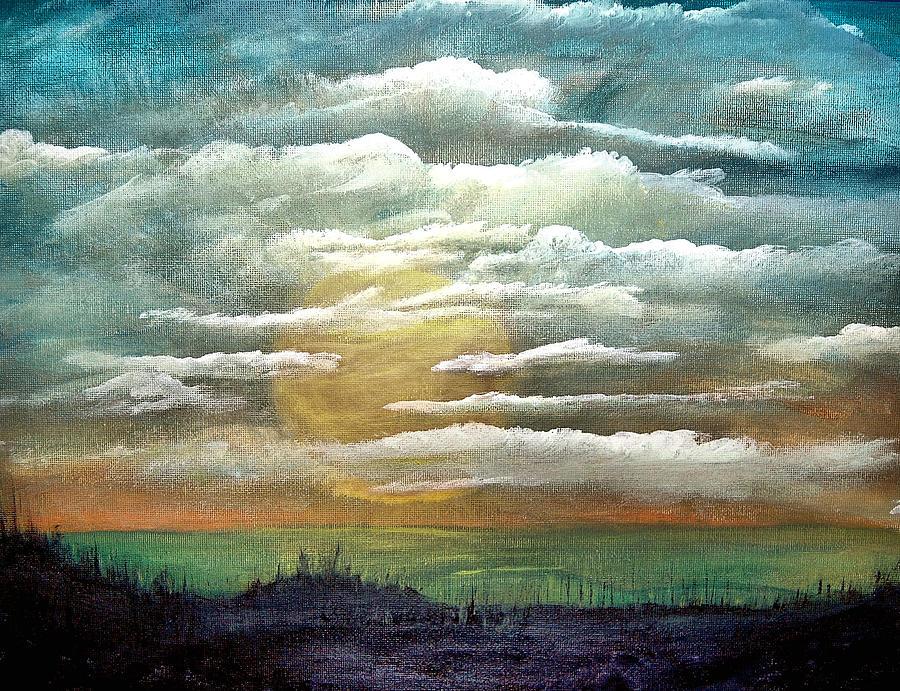 #89 Sunset Gazing 11x14 Panel Clarified Painting