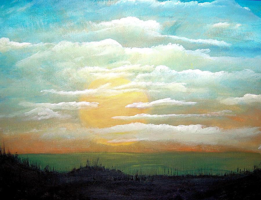 #89 Sunset Gazing Painting