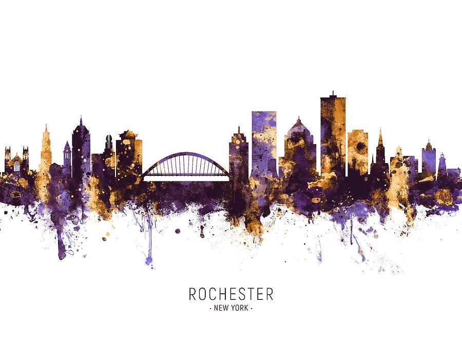 Rochester New York Skyline Digital Art By Michael Tompsett