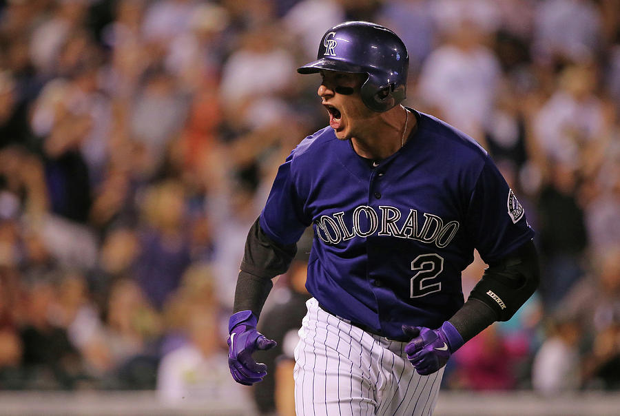 Troy Tulowitzki Photograph by Doug Pensinger