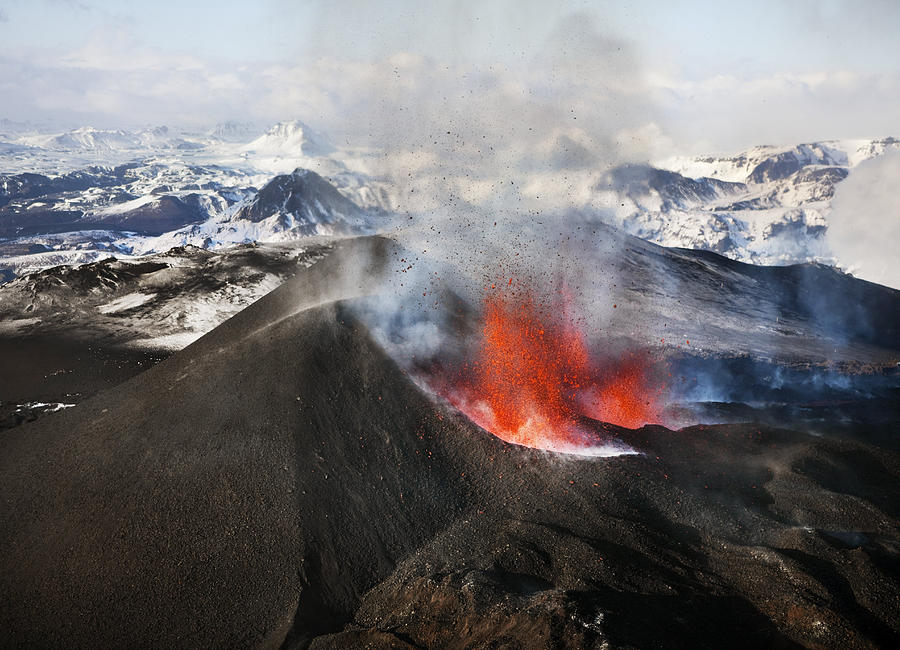 Volcano Erupts In Iceland Photograph by NordicPhotos