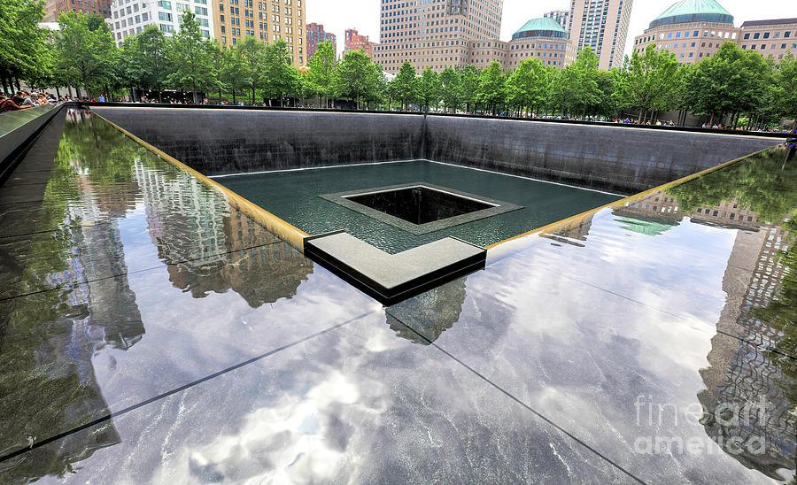 New York Photograph - 911 Memorial Reflecting Pool, New York, New York by Felix Lai
