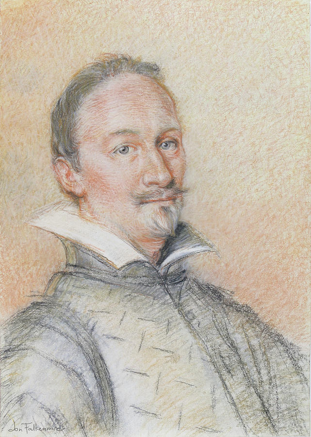 A 17th Century Italian Gentleman. Drawing