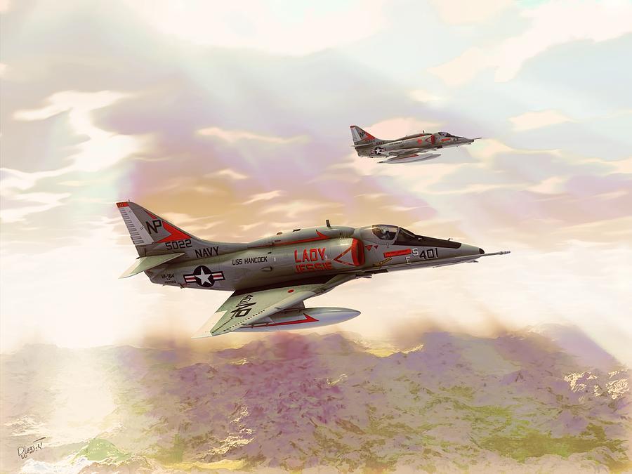 A-4e Skyhawk Lady Jessie Digital Art