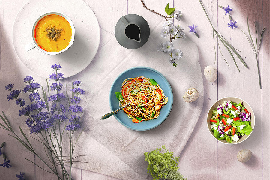 A Beautiful Lunch Moment In Mind by Johanna Hurmerinta