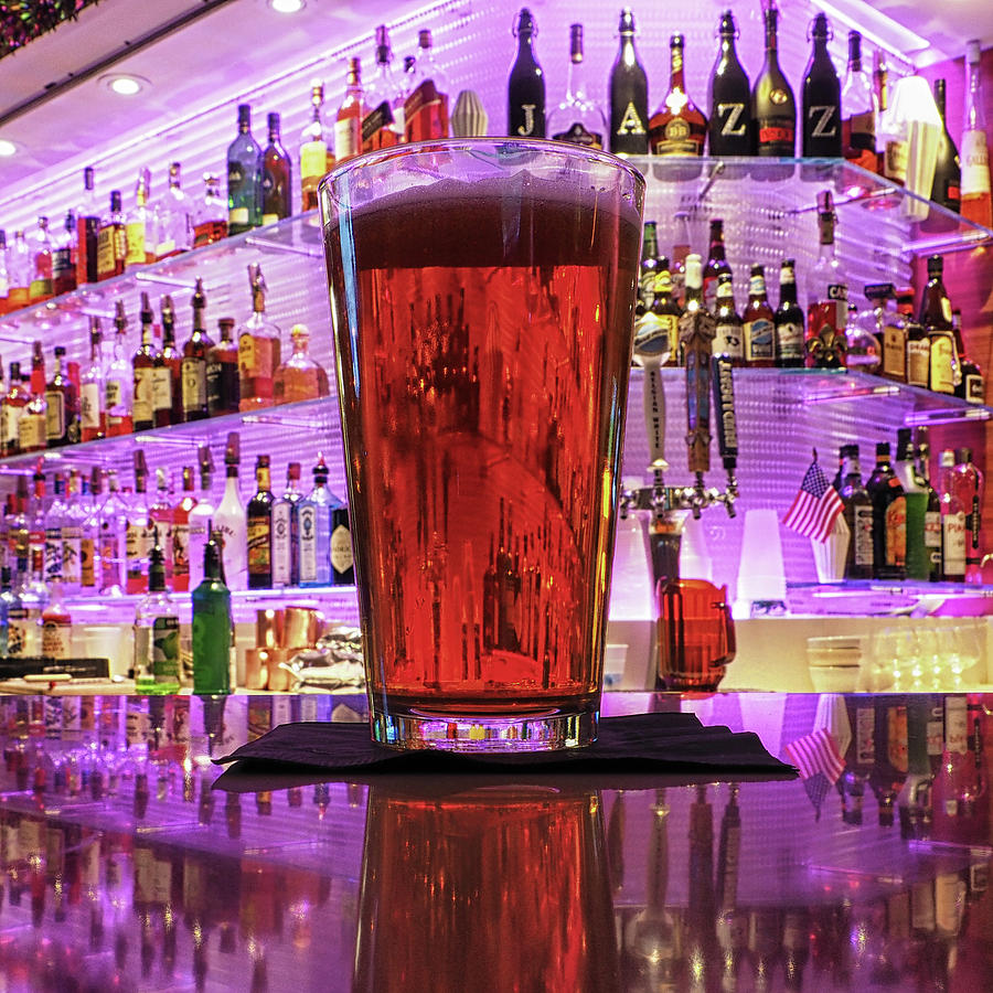 A Beer On A Bar by Bill Swartwout Photography