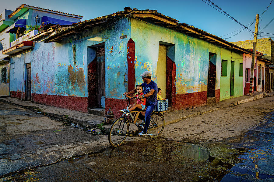 Cuba Photograph - A Bicycle Built For Three by Chris Lord
