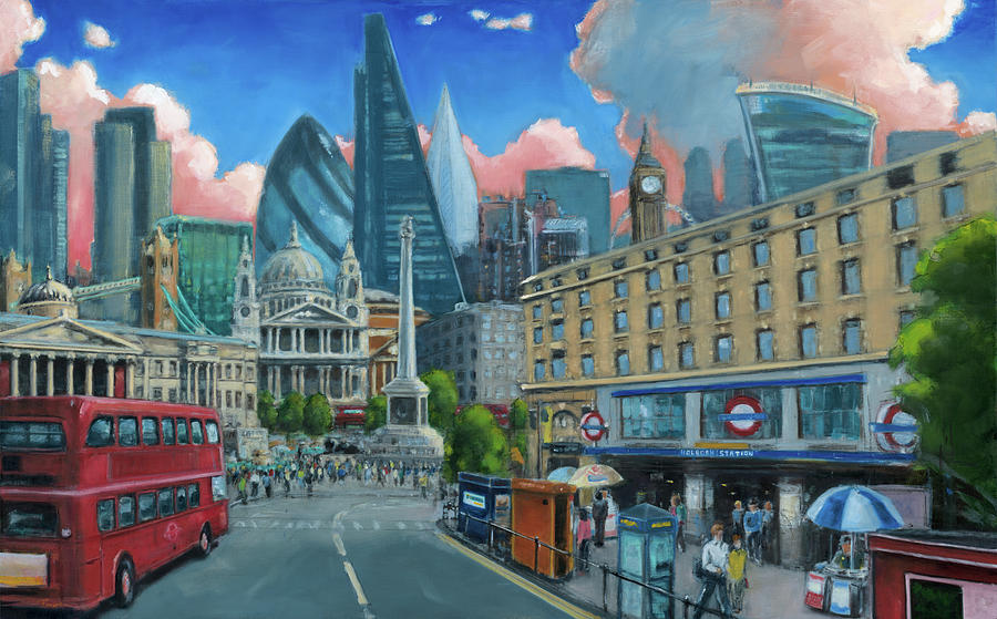 London Painting - A Bit of London - Featuring Holborn Station by Robert Reeves