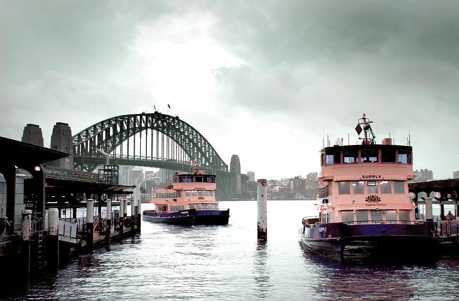 A Bleak Day In Sydney Circular Quay - Surreal Art By Ahmet Asar Digital Art