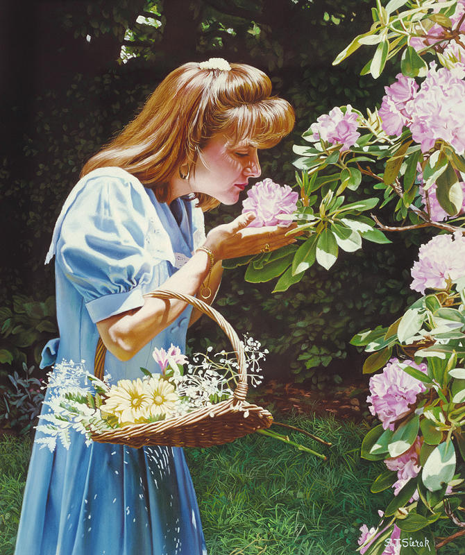 Romantic Painting - A Breath Of Spring by Tom Sierak