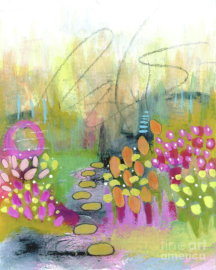 Abstract Flower Garden Painting - A Bright Future 1 Abstract Flower Garden Painting by Itaya Lightbourne