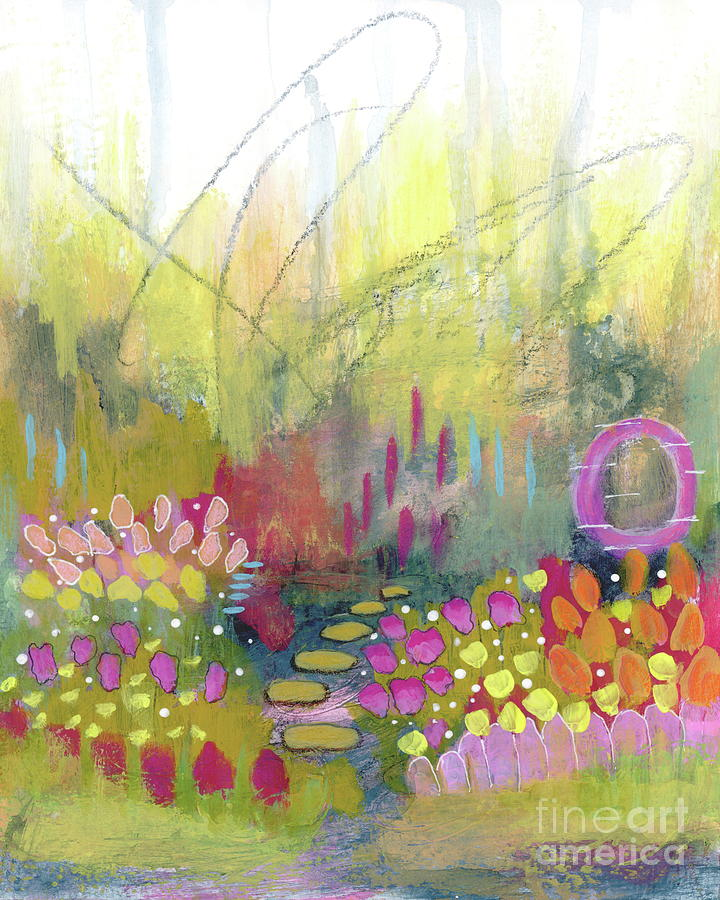 Abstract Flower Garden Painting - A Bright Future 2 Abstract Flower Garden Painting by Itaya Lightbourne