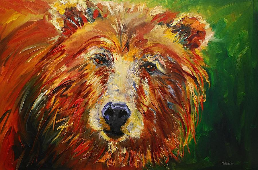 Bear Painting - A Bunch Of Bear by Diane Whitehead