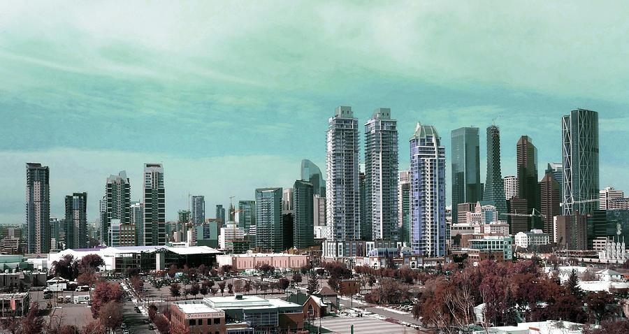 A Calgary Skyline - Surreal Art By Ahmet Asar Digital Art