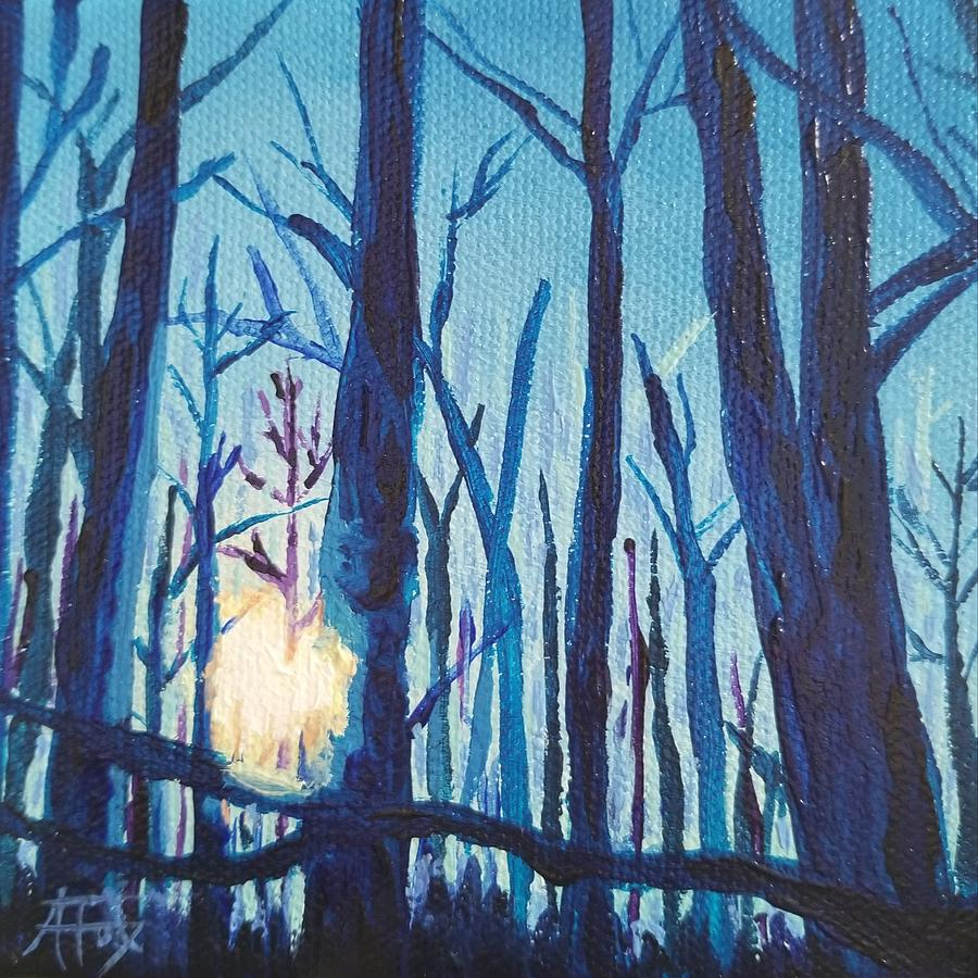 Chill Painting - A Chilly Little Number by Allison Fox