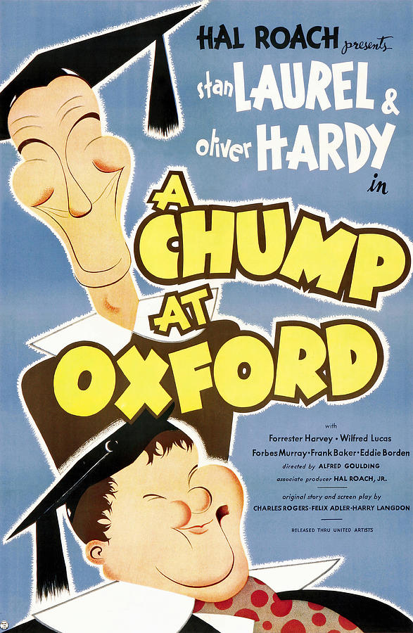 a Chump At Oxford Poster 1939 Mixed Media