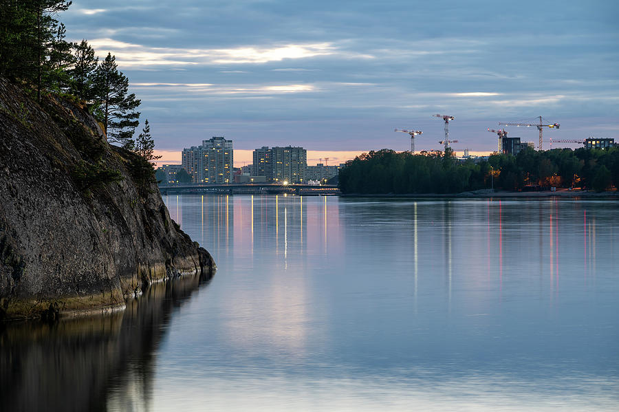 Helsinki Photograph - A city between two islands by Marko Hannula