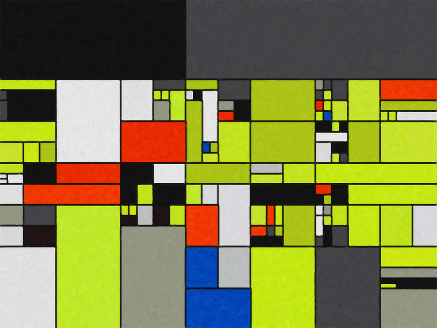 A City Block Digital Art by David Hansen