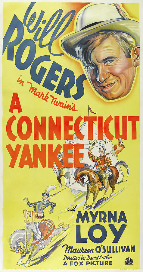 a Connecticut Yankee Poster 1931 Mixed Media
